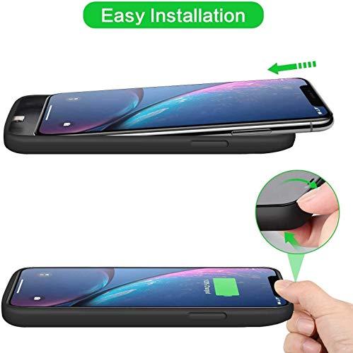 Ekrist Funda Batería para iPhone XR, 6800mAh Funda Cargador Portatil Ultra Capacidad Carcasa Batería Recargable Batería Externa para iPhone XR [6,1 Pulgadas]