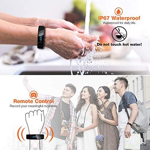ELEGIANT Pulsera de Actividad Inteligente, Reloj Deportivo IP67 para Hombre Mujer con GPS Monitor de Sueño Podómetro Contador Calorías Notificación de Whatsapps Facebook Llamadas para iOS Android