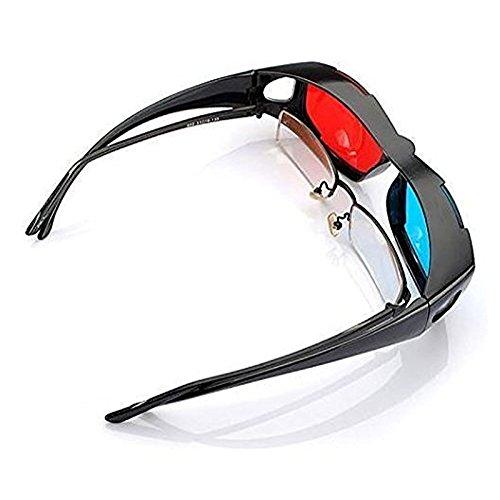 ETbotu - Gafas 3D Direct-3D Nvidia 3D Vision Ultimate Gafas 3D Anaglyph diseñadas para Adaptarse a Las Gafas de prescripción
