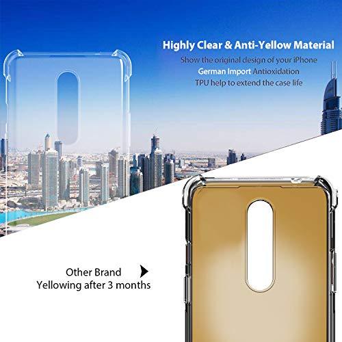 Ferilinso Funda para OnePlus 8 [Transparente TPU Silicona Carcasa] [10X Anti-Amarilleo] [Compatible con la Cristal Templado Protector de Pantalla][Anti-arañazos] [Fácil instalación] (Transparente)