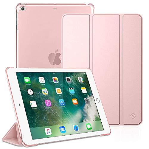 Fintie Funda para iPad 2018/2017 - Trasera Transparente Carcasa Ligera con Función de Soporte y Auto-Reposo/Activación para iPad 5.ª / 6.ª Generación 9,7 Pulgadas, Oro Rosa