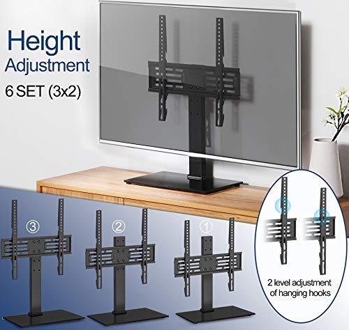 FITUEYES Soporte TV Pie de 26 a 55 Pulgadas Altura Ajustable MAX VESA 400 x 400 mm