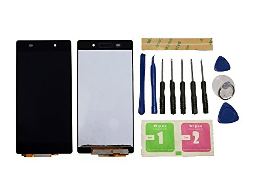 Flügel para Sony Xperia Z2 L50W D6502 D6503 Pantalla LCD pantalla Negro Táctil digitalizador Asamblea Pantalla ( sin marco ) de Recambio & Herramientas