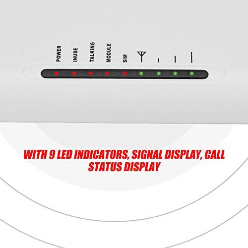 fosa GSM gateways inalámbrico a caja de teléfono con cable, 24-horas de trabajo puede conectar a caja de teléfono grabadora de alarma para hacer llamadas con antena externa(EU plug)