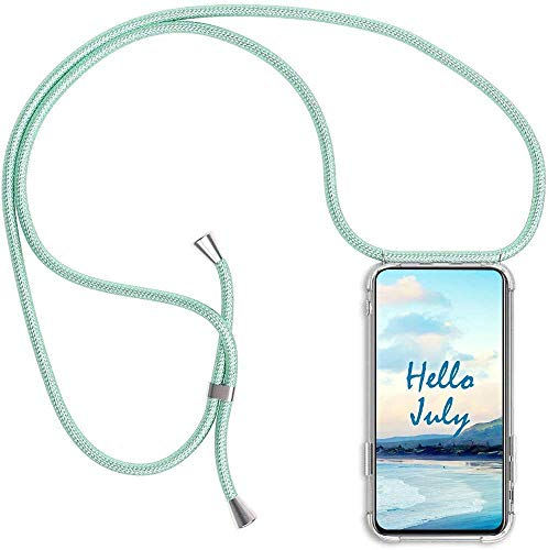 Funda de movil con Cuerda para Colgar Huawei P8 Lite 2017/P9 Lite 2017/Honor 8 Lite,Carcasa Transparente TPU Suave Silicona Case con Correa Colgante Ajustable Cuerda Correa de Cuello Cadena Cordón