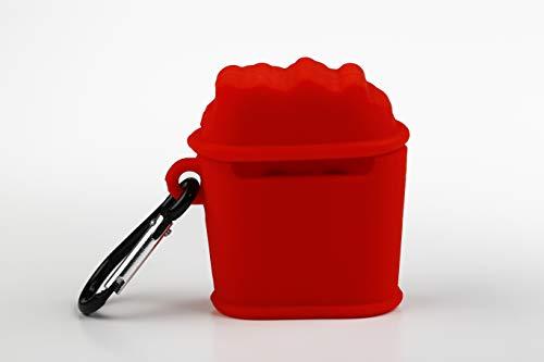 Funny Airpods Cases | Funda Protectora Airpod Case de Silicona para Airpods Apple - Diseño Bucket de Palomitas con mosquetón Anti pérdida. Compatible con Airpods 1 & 2