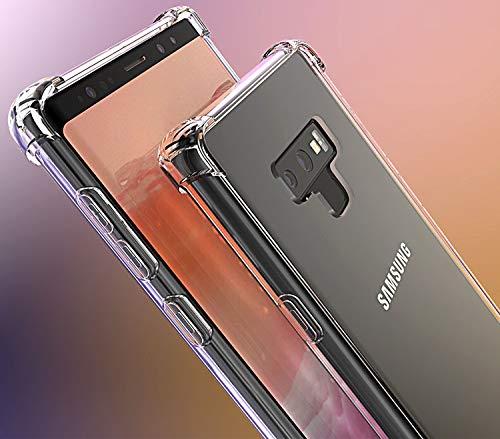 GANAN -Funda para Samsung Galaxy Note 9, Carcasa Esquinas reforzadas, antigolpes, Transparente