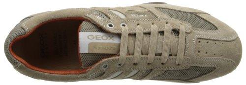 Geox Uomo Snake K, Zapatillas para Hombre, Beige (Beige/Dark Orange C0845), 41 EU
