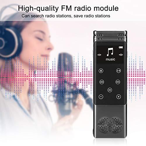 Grabador de Audio Digital Reproductor MP3 de aleación de Aluminio Doble sin pérdidas Mini para Uso Diario