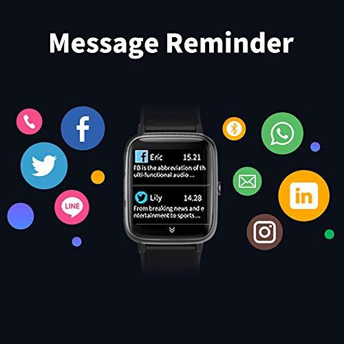 GRDE Reloj Inteligente Hombre Mujer, Smartwatch con Monitoreo del (Pulsómetro/Cardíaco/Sueño) Reloj 5ATM Impermeable con Podómetro Caloría GPS, Relojes con Despertador y Cronómetro para iPhone Xiaomi
