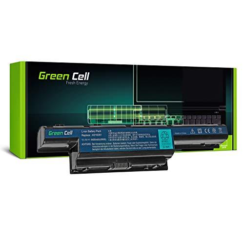Green Cell® Standard Serie AS10D31 AS10D3E AS10D41 AS10D51 AS10D61 AS10D71 AS10D73 AS10D75 AS10D81 Batería para Acer/eMachines/Packard Bell Ordenador (6 Celdas 4400mAh 11.1V Negro)