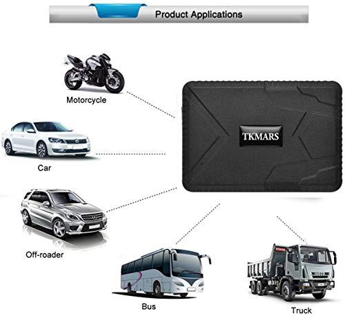 Hangang Rastreador GPS Magnético 120 días GPS Tracker en Espera, Localizador GPS a Prueba de Agua Dispositivo de Seguimiento en Tiempo Real Vehículo Automóvil con Camión para Auto GPS