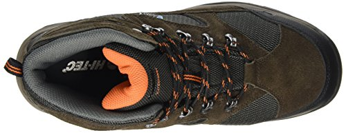 Hi-Tec Storm Waterproof, Botas de Senderismo para Hombre, Marrón (Dark Chocolate/DT Taupe/Burnt Orange), 41 EU