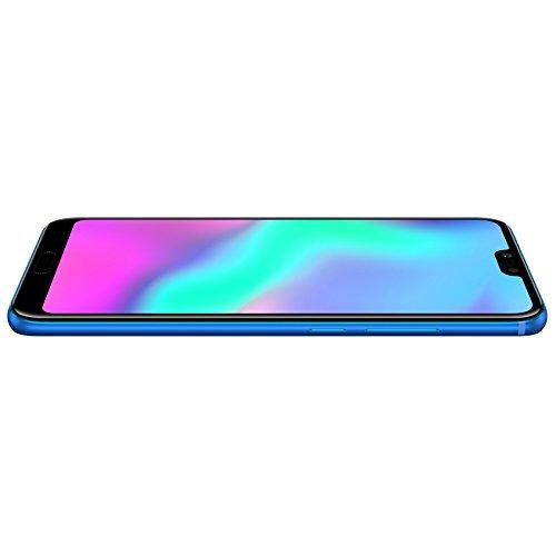 "Honor 10 – Smartphone Android (pantalla de 5,84"" 19:9, 4G, cámara trasera 16+24Mpx y frontal 24Mpx, 4GB RAM, 64GB ROM, lector de huellas, desbloqueo facial, Octa Core, 3400 mAh), azul"