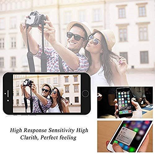 Hoonyer Pantalla para iPhone 7 Plus Pantalla táctil LCD Kit de Pantalla de Vidrio Desmontaje Repuesto Ensamblaje de Marco Digitalizador Herramienta de reemplazo de conversión Completa(Negro)