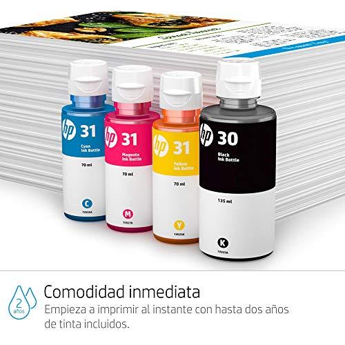 HP Smart Tank Wireless 455 - Impresora multifunción (imprime, copia y escanea desde el móvil), conectividad Wi-Fi, incluye hasta 2 años de tinta, negro