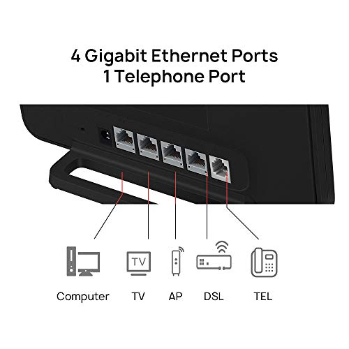 HUAWEI 4G Router 3 Pro B535 - Mobile WiFi 4G LTE (CAT.7) con punto de acceso wifi, Soporte de selección automática WiFi de doble banda y beamforming, 4 puertos Gigabit, Instalación automática, Negro