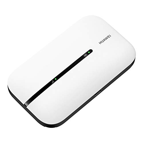 HUAWEI Mobile WiFi E5576 - Router WiFi móvil 4G LTE (CAT4) con punto de acceso, Velocidad de descarga de hasta 150Mbps, Batería recargable de 1500mAh, No requiere configuración, WiFi portátil Blanco