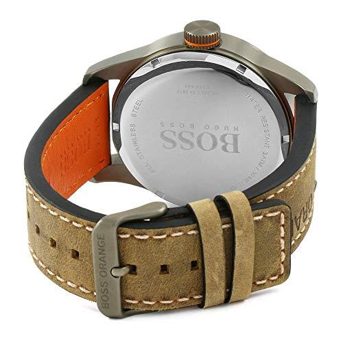 Hugo Boss Orange Reloj de pulsera analógico para Hombre, 1513240, Marrón/Negro