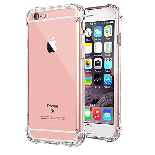 HUSHCO Funda iPhone 7 iPhone 8 iPhone SE 2020 Carcasa Silicona Suave TPU Gel Bumper Case Cover de Protección Antideslizante [Anti-Rasguño] [Anti-Golpes] Caso Transparente