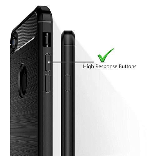 HUSHCO Funda iPhone SE 2020 iPhone 8 iPhone 7, Anti Choques y Antigolpes, Full Negro