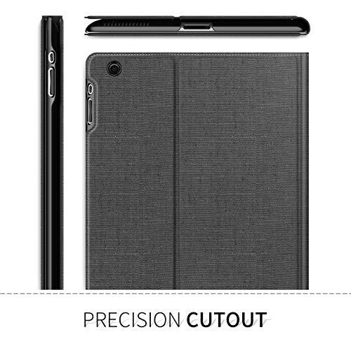 INFILAND iPad 2/3/4 Funda Case, Super Delgada Soporte Frontal Cover con Auto Reposo/Activación Función para Apple iPad 2 / iPad 3 / iPad 4 Retina,Gris