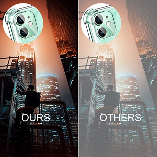 ivencase Funda para iPhone 11 + [2 Pack] Cristal Templado + cámara Protector de Pantalla, Silicona Transparente TPU Carcasa Protector Airbag Anti-Choque Anti-arañazos Carcasa para iPhone 11