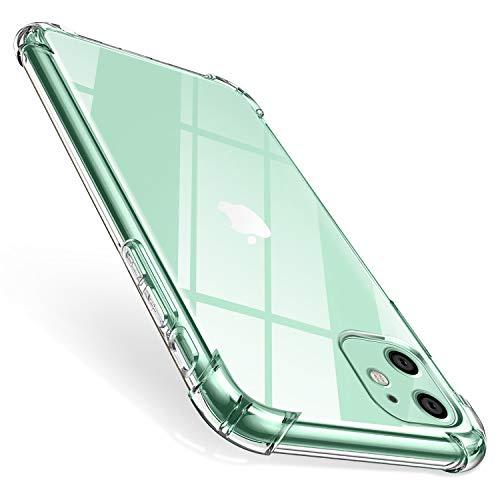 "ivencase Funda para iPhone 11, Carcasa Transparente Protectora Reforzado Cojín de Esquina Parachoques Case Flexible TPU Suave Anti-Choque Ultra-Delgado Funda para iPhone 11 2019 6.1"""
