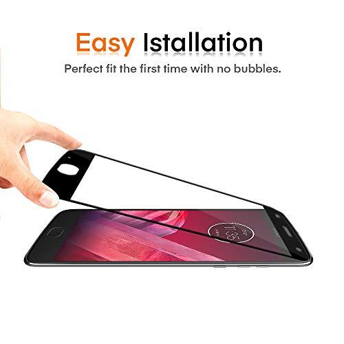 ivoler [2 Unidades] Protector de Pantalla para Motorola Moto Z2 Play, [Cobertura Completa] Cristal Vidrio Templado Premium, [Dureza 9H] [Anti-Arañazos] [Sin Burbujas]