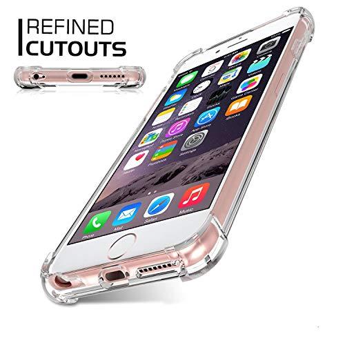 Jenuos Funda iPhone 6 / iPhone 6S, Transparente Suave Silicona Protector TPU Anti-Arañazos Carcasa Cristal Caso Cover para iPhone 6 / 6S - Transparente (6G-TPU-CL)