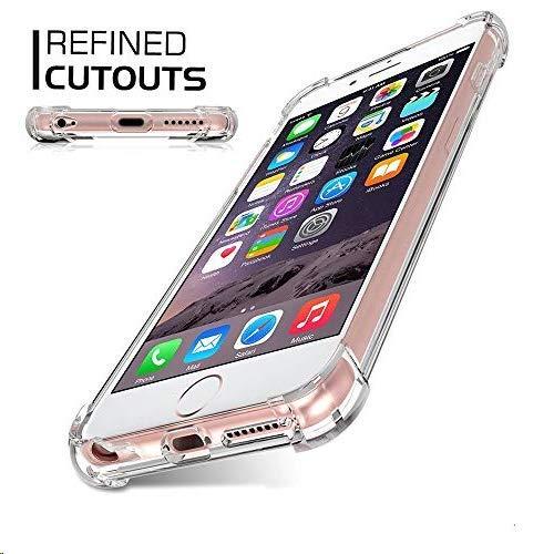 Jenuos Funda iPhone 6 Plus/iPhone 6S Plus, Transparente Suave Silicona Protector TPU Anti-Arañazos Carcasa Cristal Caso Cover para Apple iPhone 6 Plus / 6S Plus - Transparente (6P-TPU-CL)