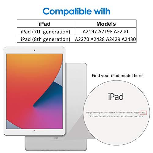 JETech Funda Compatible con iPad 8/7 (10,2 Pulgadas, 2020/2019 Modelo, 8.ª/ 7.ª Generación), Carcasa con Auto-Sueño/Estela, Negro