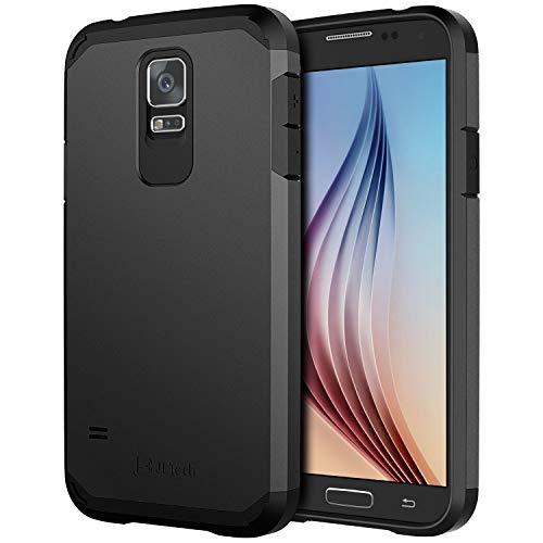 JETech Funda Compatible con Samsung Galaxy S5, Diseño Inteligente de Ultra Delgado Ajuste Carcasa, Negro