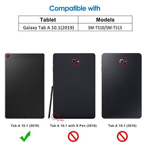 JETech Funda Compatible Galaxy Tab A 10.1 2019 (SM-T510/T515) (Negro)