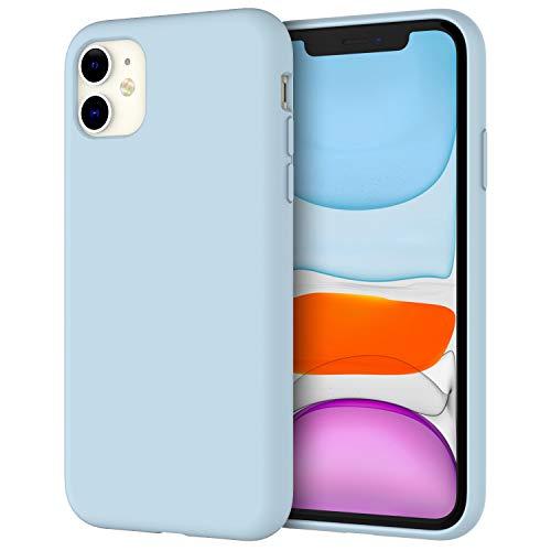 """JETech Funda de Silicona Compatible iPhone 11 (2019) 6,1"""", Sedoso-Tacto Suave, Cubierta a Prueba de Golpes con Forro de Microfibra (Azul Claro)"""