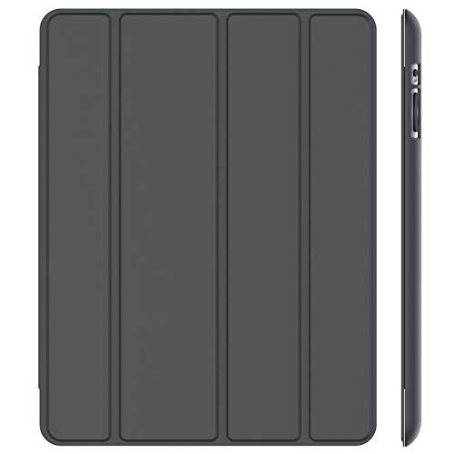 JETech Funda para iPad 4, iPad 3 y iPad 2, Carcasa con Soporte Función, Auto-Sueño/Estela, Gris Oscuro