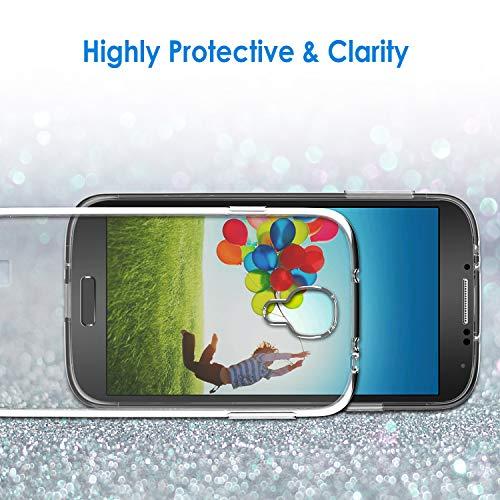 JETech Funda para Samsung Galaxy S4, Anti-Choques y Anti-Arañazos, Transparente