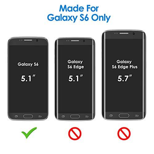 JETech Funda para Samsung Galaxy S6, Carcasa con Absorción de Impacto, Diseño de Fibra de Carbon, Negro
