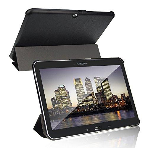 JETech Funda para Samsung Galaxy Tab 4 10,1 (SM-T530 / T535), Carcasa con Soporte Función, Auto-Sueño/Estela, Negro