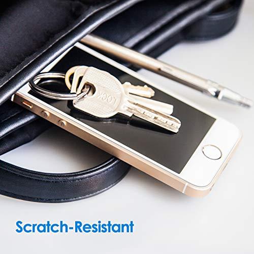 JETech Protector de Pantalla Compatible iPhone SE (Edición 2016), iPhone 5s, iPhone 5 y iPhone 5c, Vidrio Templado, 3 Unidades