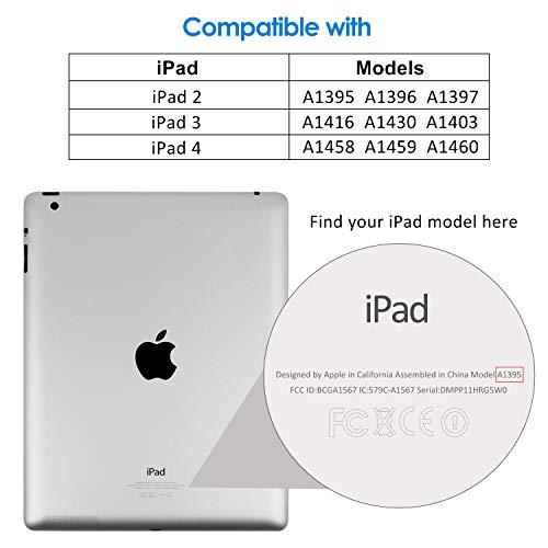 JETech Protector de Pantalla para iPad 2 3 4, Vidrio Templado