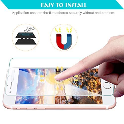 KEEPXYZ Funda para iPhone 7 / iPhone 8 + 2 Pcs Protector de Pantalla para iPhone 7 / iPhone 8 Cristal Templado, Flexible Suave Silicona Transparente TPU Carcasa + Vidrio Templado para iPhone 7 8