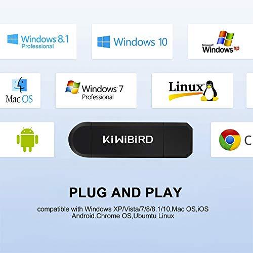 KiWiBiRD Lector Tarjeta de Memoria SD/Micro SD, Adaptador Micro USB OTG y Lector de Tarjetas USB 2.0 Computadoras de Escritorio y Portátiles/Teléfonos Inteligentes/Tabletas con Función OTG