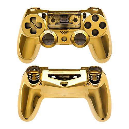 kwmobile Carcasa control de consola compatible con Playstation Controlador de PS 4 (1. Gen) en dorado