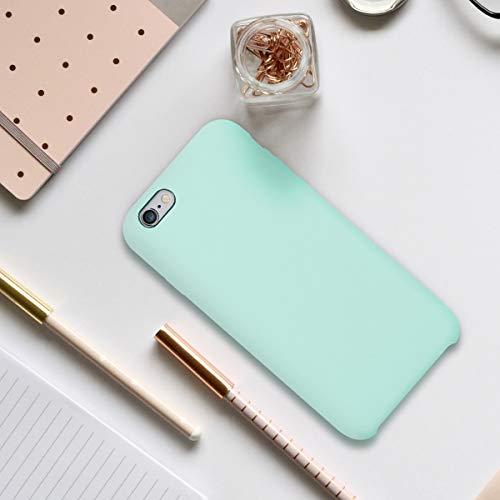 kwmobile Funda Compatible con Apple iPhone 6 / 6S - Carcasa de TPU para móvil - Cover Trasero en Menta Mate