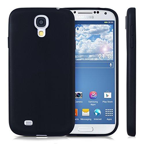 kwmobile Funda Compatible con Samsung Galaxy S4 - Carcasa de TPU Silicona - Protector Trasero en Negro Mate