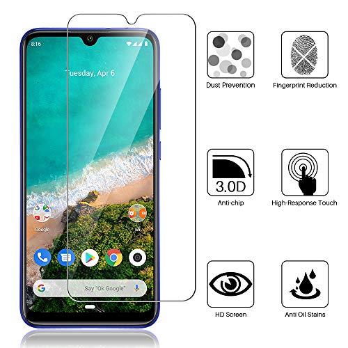 L K 3-Unidades Protector de Pantalla para Xiaomi Mi A3, Cristal Vidrio Templado Premium [Dureza 9H] [Funda Compatible] [Anti-Arañazos] [Sin Burbujas] [Sin Bordes Levantados] [Instalación Fácil]