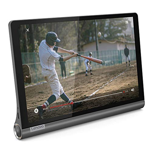 "Lenovo Yoga Smart Tab - Tablet de 10.1"" Full HD/IPS (Qualcomm Snapdragon 439 Octa-Core, 4 GB de RAM, 64 GB eMCP, Android 9, Wi-Fi + Bluetooth 4.2), Color Negro"