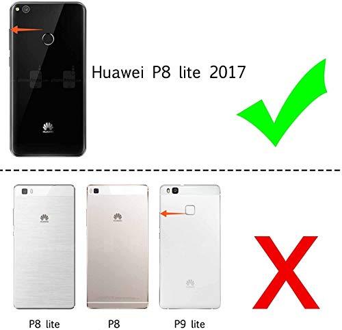 LeYi Funda Huawei P8 Lite 2017 / P8Lite 2017 Silicona Purpurina Carcasa con [2-Unidades Cristal Vidrio Templado],Transparente Cristal Bumper Fundas Case Cover para Movil P8 Lite 2017 Verde/Púrpura