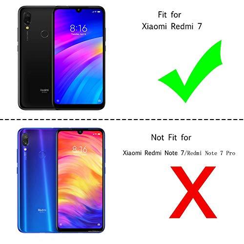 LeYi Funda Xiaomi Redmi 7 / S3 / Y3 Silicona Purpurina Carcasa con HD Protectores de Pantalla, Transparente Cristal Bumper Telefono Gel TPU Fundas Case Cover para Movil Redmi 7 ZX Oro Rosa